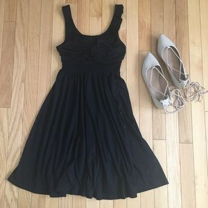 Candie's black ruffled dress